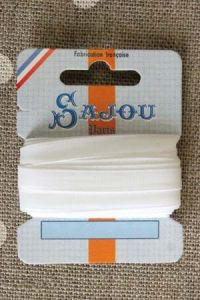 Embroidery ribbon card - 6mm width - Col.201 white