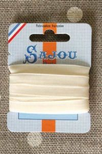Embroidery ribbon card - 6mm width - Col.245 écru