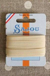Embroidery ribbon card - 6mm width - Col.379 sand