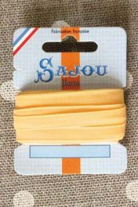 Embroidery ribbon card - 6mm width - Col.346 yellow