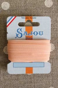 Embroidery ribbon card - 6mm width - Col.275 salmon