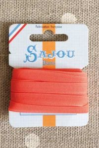 Embroidery ribbon card - 6mm width - Col.381 orange