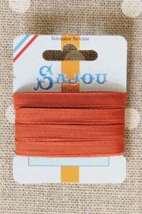 Embroidery ribbon card - 6mm width - Col.363 rust