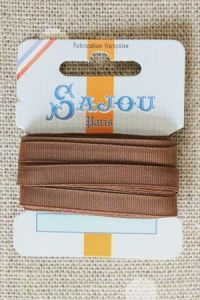 Embroidery ribbon card - 6mm width - Col.214 bark
