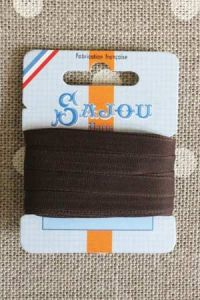 Embroidery ribbon card - 6mm width - Col.417 chocolate