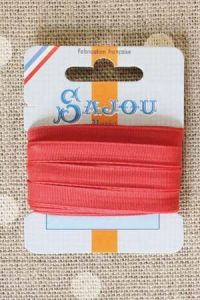 Embroidery ribbon card - 6mm width - Col.360 red