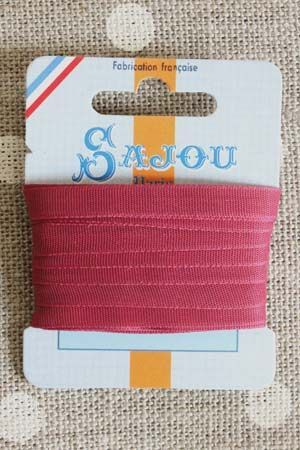 Embroidery ribbon card - 6mm width - Col.209 raspberry