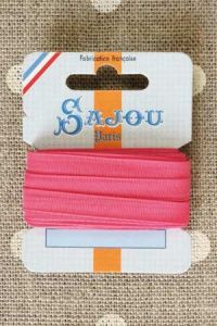 Embroidery ribbon card - 6mm width - Col.345 pink