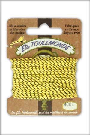 Novelty Rochefort thread 5m card - n°4002 yellow/black