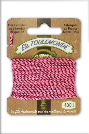 Fil Rochefort cordelette fantaisie 4003 rose/marron