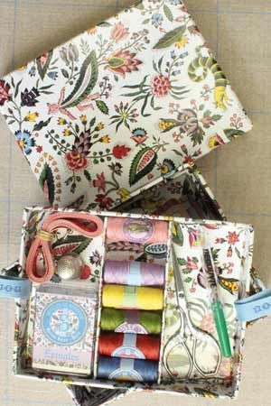 Complete sewing set small model - Jouy Coquecigrues motif