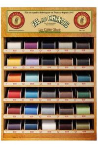 Fil Au Chinois thread display with 30 spools of cable linen - n°632