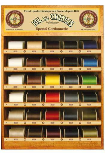 Fil Au Chinois thread display with 30 special Cordonnerie  thread spools - 750m