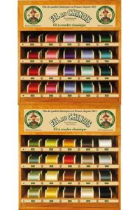 Two Fil Au Chinois thread display  with 40 cotton spools - 400m