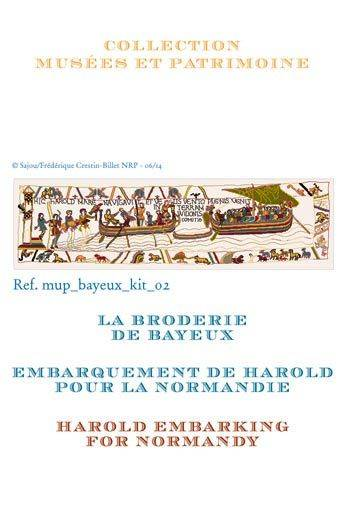 Cross stitch kit: Harold embarking for Normandy