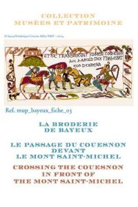 Cross stitch pattern chart: Crossing the Couesnon in front of the Mont Saint-Michel
