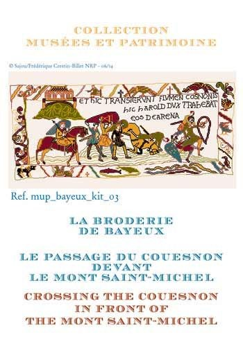 Cross stitch kit: Crossing the Couesnon in front of the Mont Saint-Michel