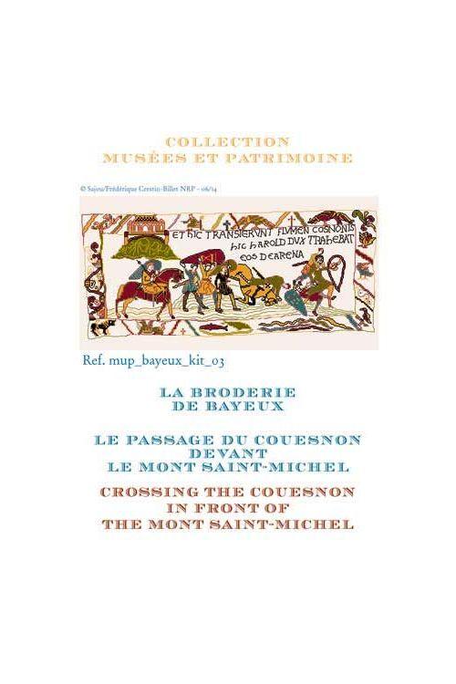 Kit de point de croix : le passage du Couesnon devant le Mont Saint-Michel