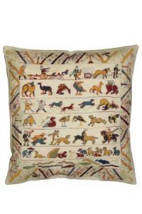Cross stitch kit: animals from the Bayeux embroidery