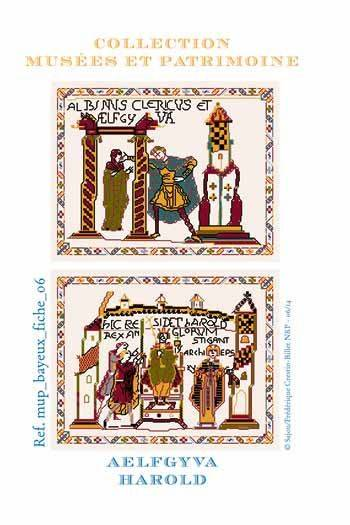 Cross stitch pattern chart: Aelfgyva and Harold