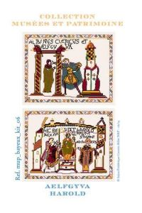 Cross stitch pattern kit: Aelfgyva and Harold