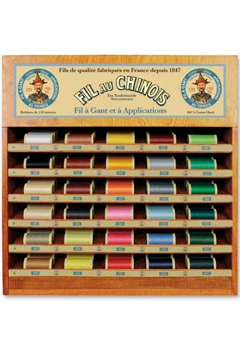 Fil Au Chinois thread display with 30 gloving thread spools - 150m