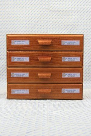 Sajou haberdashery chest of four drawers - Retors du Nord labels