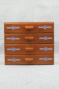 Sajou haberdashery chest of four drawers - Sajou long labels