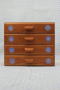 Sajou haberdashery chest of four drawers - Sajou round labels