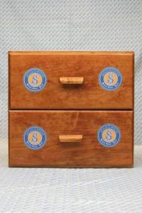 Sajou shop drawers - chest of two drawers - Articles de mercerie labels