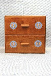Sajou shop drawers  - chest of two drawers - Retors du Nord labels