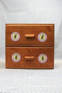 Sajou shop drawers - chest of 2 drawers - Pink Fil Au Chinois labels