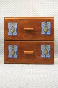 Sajou shop drawers - chest of 2 drawers - Tonkin labels