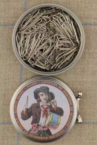Sajou drummer boy metal tin with paper clips