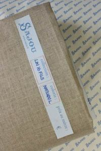 Sajou linen - 16 threads/cm By the meter - Natural