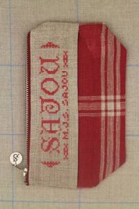 Cross stitch fancy work kit: linen pouch Sajou from 1842 to 1845