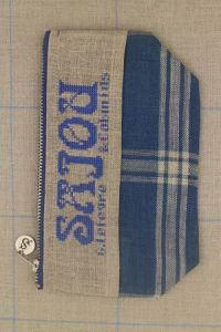 Cross stitch fancy work kit: linen pouch Sajou from 1882 to 1934
