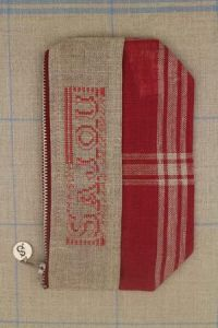 Cross stitch fancy work kit: linen pouch Sajou from 1934 to 1954