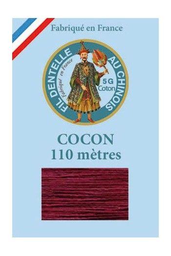 Fil couleur pour dentelle Cocon Calais coton uni 6549 - Bordeaux