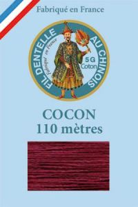 Coloured lace cotton thread Calais Cocoon n° 6549 - Dark red