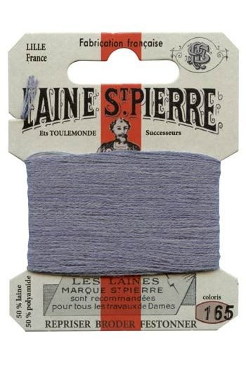 Laine Saint-Pierre 10 m card darning / embroidery 165 Steel