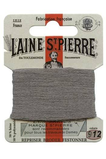 Laine Saint-Pierre 10 m card darning / embroidery 912 Grey