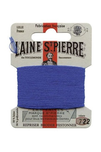 Laine Saint-Pierre 10 m card darning / embroidery 722 Gentian