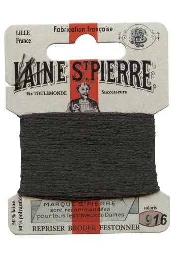 Laine Saint-Pierre 10 m card darning / embroidery 916 Anthracite grey
