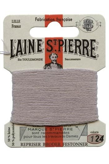 Laine Saint-Pierre 10 m card darning / embroidery 124 Pearl grey