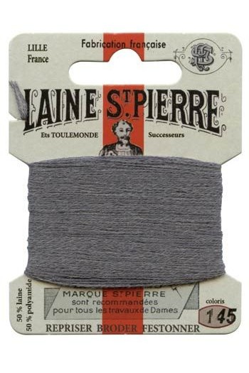 Laine Saint-Pierre 10 m card darning / embroidery 145 Medium grey