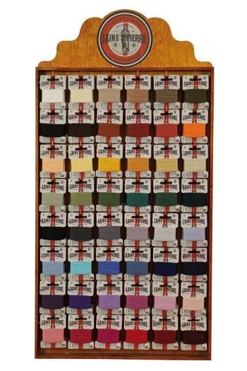 Haberdashery display containing 240 Laine Saint-Pierre cards
