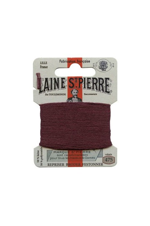 Laine Saint-Pierre 10 m card darning / embroidery 475 Burgundy