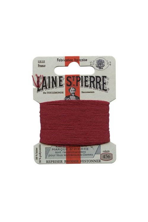 Laine Saint-Pierre 10 m card darning / embroidery 456 Bordeaux
