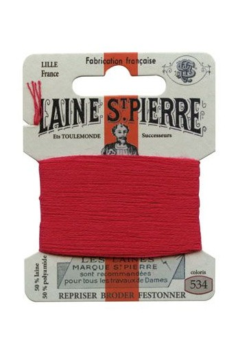 Laine Saint-Pierre 10 m card darning / embroidery 534 Vermilion